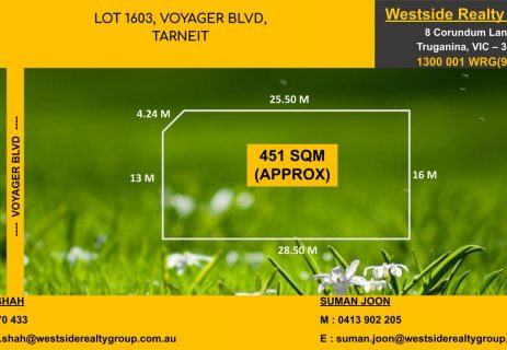 Lot 1603,  Voyager Boulevard Tarneit VIC 3029