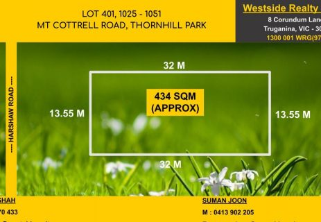 Lot 401,  1025 – 1051 Mount Cortell Road Thornhill Park VIC 3335